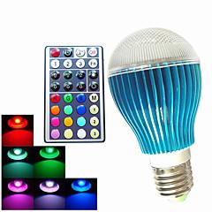 9W GU10 / B22 / E26/E27 Ampoules Globe LED A60(A19) 3PCS LED Haute Puissance 450LM lm RGB Décorative / Gradable / Commandée à DistanceAC