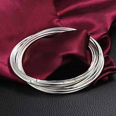 "Christmas Noble Quality 925 Sterling Sliver ""Circle""Bangles Party Daily Bangles For Woman&Lady"