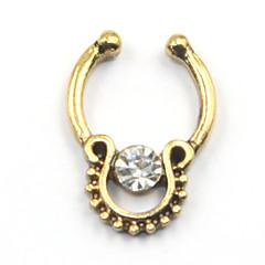 Női Testékszer Piercing za nos orr Piercing Rozsdamentes acél utánzat Diamond Egyedi Divat Ékszerek Arany Ezüst Vörös arany ÉkszerekNapi