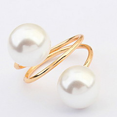 Europe And America Exaggerated Multilayer Pearl Ring