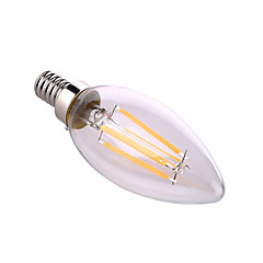 YWXLight® E12 4W 4 COB 400 LM Warm White / Natural White LED Candle Bulbs AC 110-130 V