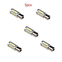 5pcs hry® 6W 1156 5630 33smd cor branca super brilhante cauda turno carro lâmpada lâmpada DC12V