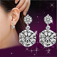 Dame Dråbeøreringe Imiteret Diamant Sød Stil luksus smykker kostume smykker Sølv Krystal Rhinsten Smykker Til Bryllup Fest Daglig