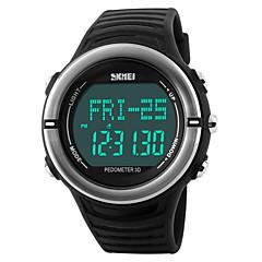 Męskie Sportowy Zegarek na nadgarstek Cyfrowe LED Kalendarz Chronograf Wodoszczelny alarm Pulsometr Sportowy PU Pasmo Czarny Zielnony