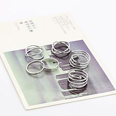 Ringen Verstelbaar Feest / Dagelijks / Causaal Sieraden Legering Dames Midiringen 1 Set,Verstelbaar Gouden