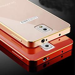 Voor Samsung Galaxy Note Beplating hoesje Achterkantje hoesje Effen kleur Metaal Samsung Note 4 / Note 3