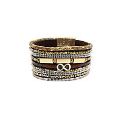 Hochzeit / Party / Alltag / Normal / Sport - Vintage Armbänder / Lederarmbänder ( Aleación / Leder / Acryl / Strass / Stoff )