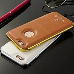 Linee cuoio hzbyc®luxury genuino metallo della pelle TPU telaio integrato per il iphone 5 / 5s