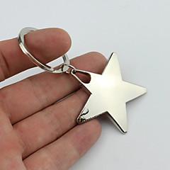 sorrindo de cinco pontas chaveiro estilo estrela com material plástico macio