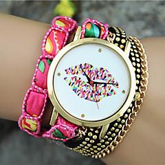 Women's European Style Fashion Color Lip Wrist Watch Bracelet Watch Cool Watches Unique Watches