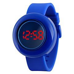 아가씨들 패션 시계 디지털 LED / 달력 / 방수 PU 밴드 블랙 / 블루 / 레드 상표-