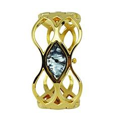 ファッションの女性の腕時計シェルダイヤル合金中空ブレスレット黄金の水晶ヒップホップ時計(アソートカラー)