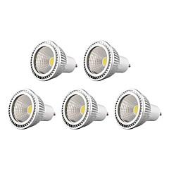 5W GU10 Focos LED 1 COB 450 lm Blanco Cálido / Blanco Fresco / Blanco Natural Regulable AC 100-240 / AC 110-130 V 5 piezas