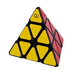 Magic Cube IQ Cube Qiji Three-layer Speed Smooth Speed Cube Magic Cube puzzle White / Black Plastic