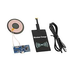 Vezeték nélküli töltő EU csatlakozó / UK dugasz / US dugasz / AU csatlakozó 1 USB port Kábel Mert Mobil(5V , 1A)