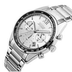 SKMEI® Men's Chronograph Fashion Business Styel Stainless Steel Quartz Watch Cool Watch Unique Watch