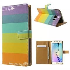 boa qualidade pu caso da aleta do couro do telefone móvel coldre para Samsung Galaxy S5 / S6 / S6 borda / beira S6 mais