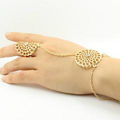 Anéis Casual Jóias Liga Feminino Anéis Meio Dedo 1pç,7 Dourado / Prateado