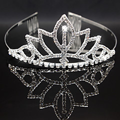 Full-Crystal Flower Shape Crown Headband for Wedding Party