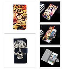 Pour Coque iPhone 5 Porte Carte / Clapet Coque Coque Intégrale Coque Animal Dur Cuir PU iPhone SE/5s/5