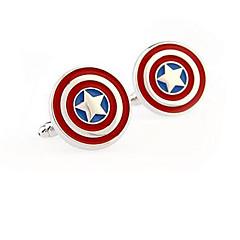 Captain America ανοξείδωτο χάλυβα μανικετόκουμπα πλατεία εκλεκτής ποιότητας γαμήλιο δώρο graving γαμπρό πουκάμισο deluxe ανδρών