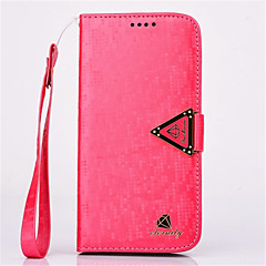 High Quality Diamond Pattern with Stand PU Leather Cover for Samsung S4/S5/S6/S6 Edge (Assorted Colors)