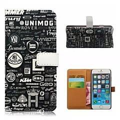 For iPhone 5 etui Pung / Kortholder / Med stativ / Flip / Mønster Etui Heldækkende Etui Sort og hvid Hårdt Kunstlæder iPhone SE/5s/5