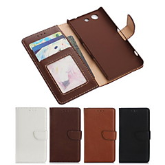 PU Leather Full Body Case with Card Slot and Wallet and Stand for Sony Xperia Z3 Compact/Z3 mini