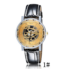 Hot Men's Double-Sided Non-Mechanical Watches Fashion Hollow Waterproof Leather Leisure Life Table Cool Watch Unique Watch