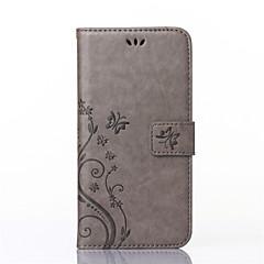 Teljes test pénztárca / Tárcatok / állvánnyal / Dombornyomott Pillangó Műbőr Kemény Tok Huawei Huawei P8 Lite / Huawei Y550Huawei P8 Lite