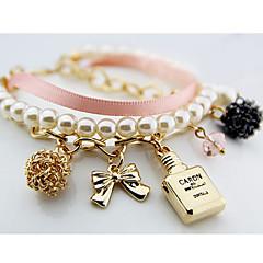 South Korea Fashion Women'S Pearl Perfume Bottle Alloy Bracelet