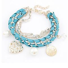 Fashion Jewelry Hollow Heart Weave Bracelet