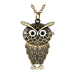 creative The owl necklace watch wholesale cheap pocket watch