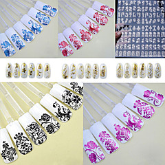 1PCS  Fashion Metal 3D Nail Stickers