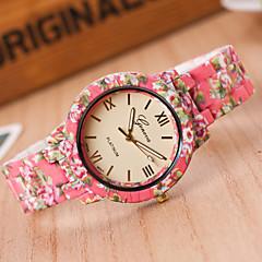 Dames Modieus horloge Kwarts Hars Band Blauw Roze Wit Geel