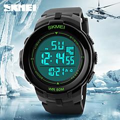 גברים שעון יד דיגיטלי LCD / לוח שנה / כרונוגרף / עמיד במים / אזעקה גומי להקה שחור מותג- SKMEI
