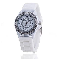 Xu™ Women's Fashion Diamonds Silicone Quartz Watch Cool Watches Unique Watches