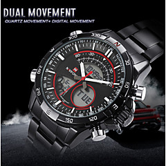 NAVIFORCE® Men's Digital Watches Luxury Black Alloy Dual Movement  Sports Wrist Watches For boys Cool Watch Unique Watch Fashion Watch