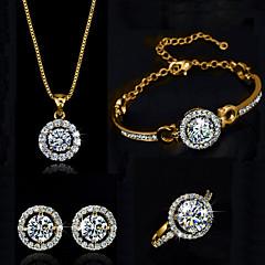 Feminino bijuterias Cristal Colares Brincos Anéis Bracelete Para Casamento Festa Aniversário Noivado Diário Casual Presentes de casamento