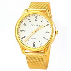 reloj de pulsera de cuarzo venda de la aleación de oro de diseño ocasional de la pareja