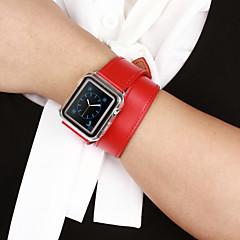 Banda de relogio para relógio de maçã 38mm pulseira empilhadeira de reposição de couro 42mm turnê dupla