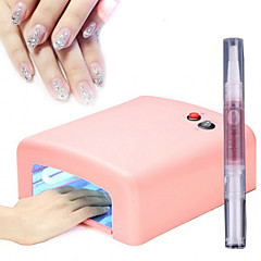36w UV-Nagellampe Lichttherapie Maschine 4light Rohr + 1cuticle revitalizer Öl