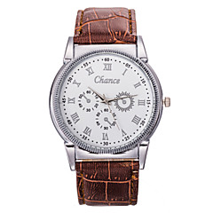 Men's Fashion Watch PU Belt Scale Commercial High-Grade Quartz Watch Cool Watch Unique Watch