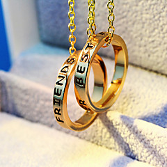 Best Friend Letter Fashion Pendant Necklace
