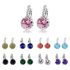 Earring Stud Earrings / Hoop Earrings Jewelry Wedding / Party / Daily / Casual / Sports Alloy / Zircon 1set Assorted Color