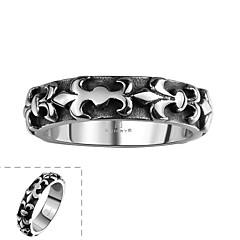 פשוט אין טבעת הנירוסטה בטיפות מי הים של גברי אבן דקורטיביים קלסיים (השחורה) (1pc)