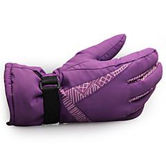 Unisex Handschoenen Recreatiesport / Sneeuwsporten Houd Warm / Draagbaar / Anti-Slip Voorjaar / Herfst / Winter Rood / Zwart / Paars-
