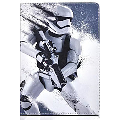 Robot Pattern PU Leather Case with Stand and Card Slot for iPad Air