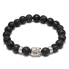 The New Men's And Women's Hands On Volcano Stone Beads Head Beads Bracelet Jewelry