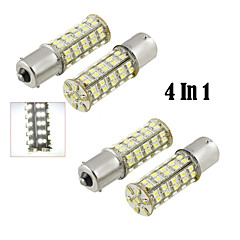4 In1  1156/BA15S 68 LED SMD White Light Bulb(DC 12V)